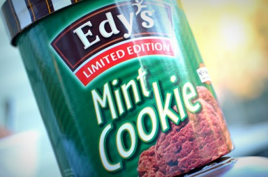 Edy's Limited Edition Mint Cookie ice cream
